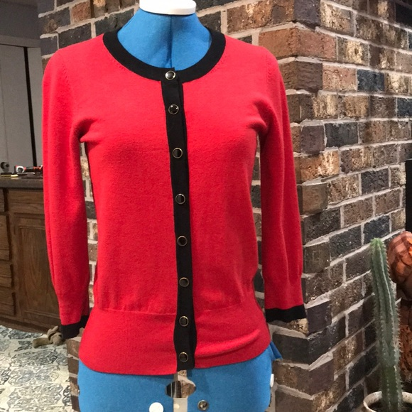 Audrey & Grace Sweaters - Red (holiday)  Cardigan